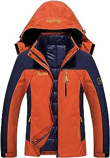 Sawadikaa Men's Outdoor Windproof Mountain Fleece 3 in 1 Ski Snow Jacket Coat Softshell Windbreaker Insulated Jacket