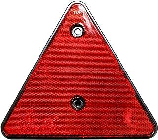 2er SET Rückstrahler Dreieck ROT e geprüft Hänger Trailer Reflektor links rechts