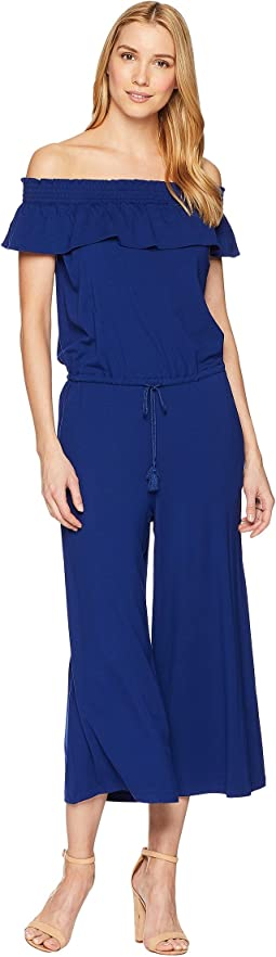 Off the Shoulder Wide-Leg Jumpsuit