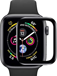[2-Pack] Vemsoul for Apple Watch Screen Protector,Tempered Glass Screen Protector,Full Coverage Scratch Resistant Screen Film for iWatch Series 4 40mm 44mm (Series 4, 44mm)