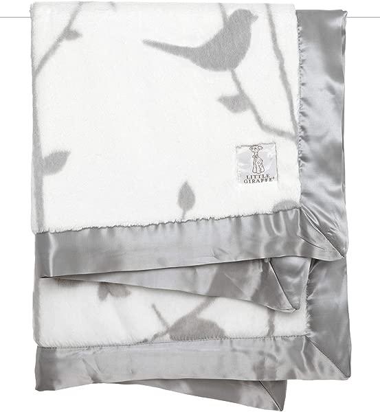 Little Giraffe Luxe Birdsong Baby Blanket