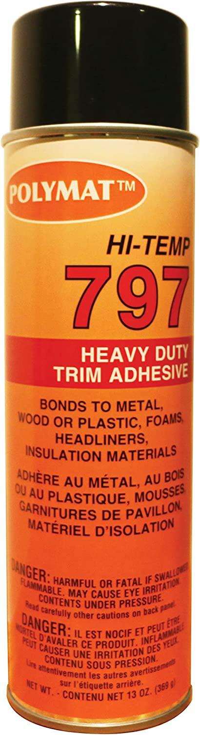 Polymat Large Limited time cheap sale special price 797 Hi-Temp Industrial Spray Glue Adhesive Bonds Flexibl