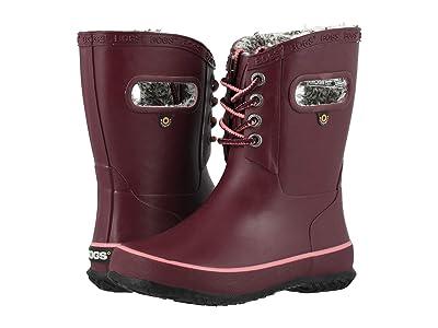 Bogs Kids Amanda Plush Lace (Toddler/Little Kid/Big Kid) (Burgundy) Girls Shoes