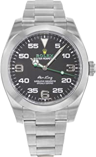 Air King Black Dial Stainless Steel Mens Watch 116900BKAO