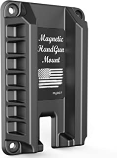 MytypeMag Gun Magnet Mount | Magnetic Handgun Mount / Holder - Concealed Tactical Firearm Accessories / Gun Accessories Holder for Truck, Car, Wall, Vehicle -Mg007
