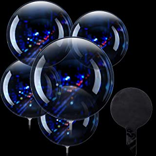Sumind 30 Pieces Bubble Transparent Balloons Birthday Bobo Balloons Crystal Bubble Clear Balloons for Birthday Party House...