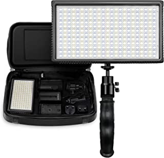 Polaroid 312 LED Camera/Video Light w/Dimmable Variable Color Temperature, EU/UK Adapters, Diffuser Filter & Carry Bag