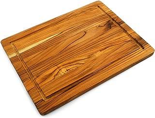 Terra Teak Cutting Board, Premium Eco Friendly Teak - 16 x 12 x 0.75 Inch
