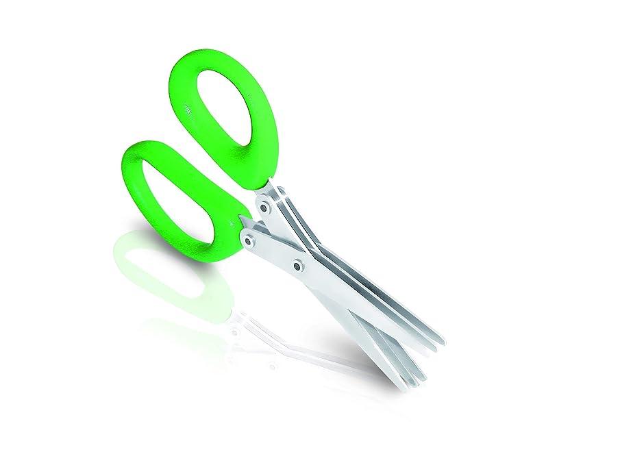 I GENIETTI Multi-Blade Herbs Scissors, Green