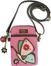 Chala Crossbody Cell Phone Purse - Women PU Leather Multicolor Handbag with Adjustable Strap