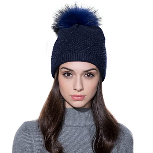 bonnet femme bleu marine