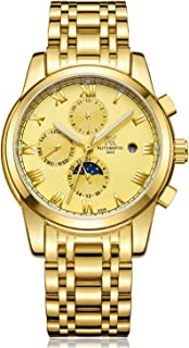 Mens Watch Men's Six Pointers Stainless Steel Automatic Watch