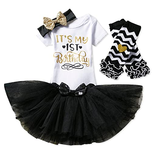 d0c479fc8 NNJXD Girl Newborn It's My 1st Birthday 3 Pcs/4 pcs Outfits Romper+Skirt