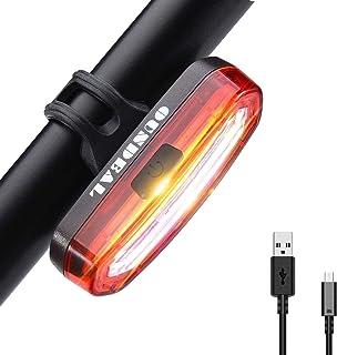 comprar comparacion OUNDEAL Luz Trasera Bicicleta, Luz Bicicleta LED, Luz LED Trasera Bicicleta Recargable USB, Faro Trasero Bici con 6 Modos,...
