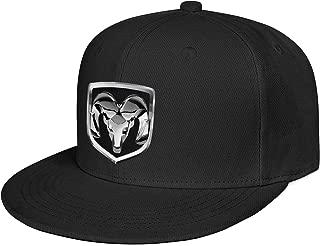 Dodge-ram-Logo Men Women Flat Visor Cap Cute Fit Structured Trucker Hats
