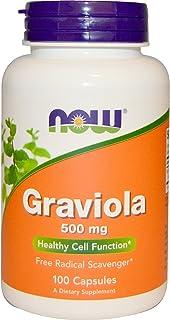Now Food Graviola, 500mg, 100 Capsules