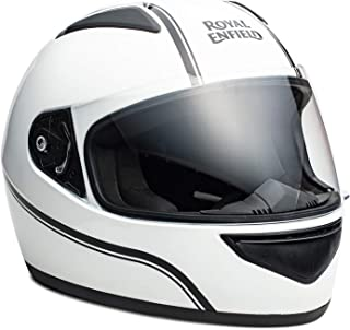 Royal Enfield White Full Face With Visor Helmet Size (L)60 CM (RRGHEK000032)(White)