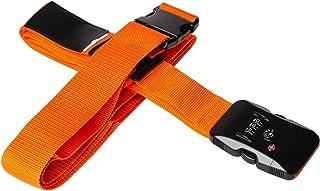 Adjustable Luggage Straps,Yisiga TSA Suitcase Travel Cross Belt with Name Tag Slot (with Locks) Travel Accessories(TSA-Ora...