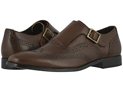 Florsheim Jetson Wing Tip Single Monk Strap (Cognac Smooth) Men