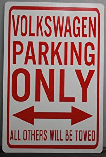Motown Automotive Design Metal Street Sign Volkswagen Parking ONLY 12x18 Peace Love Flower Power HOT Rod Muscle CAR BAR Garage Man CAVE Restaurant Wall Art Gift FITS VW Beetle Bug Dune Buggy GTI