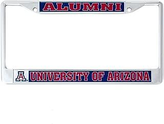 Desert Cactus University of Arizona Alumni Metal License Plate Frame for Front Back of Car Officially Licensed UA Wildcats (Alumni)