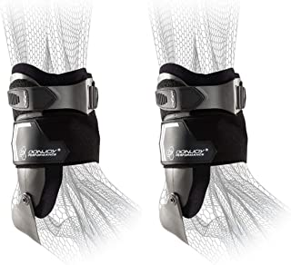DonJoy Performance Bionic Stirrup Ankle Braces (Right and Left Pair), Maximum Medial Lateral Ankle Support, Low-Profile Rigid Brace, Adjustable - Black, Large - Value Bundle