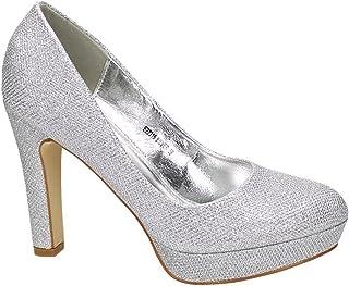 premium selection 9a427 b2a13 Suchergebnis auf Amazon.de für: Silber - Pumps / Damen ...