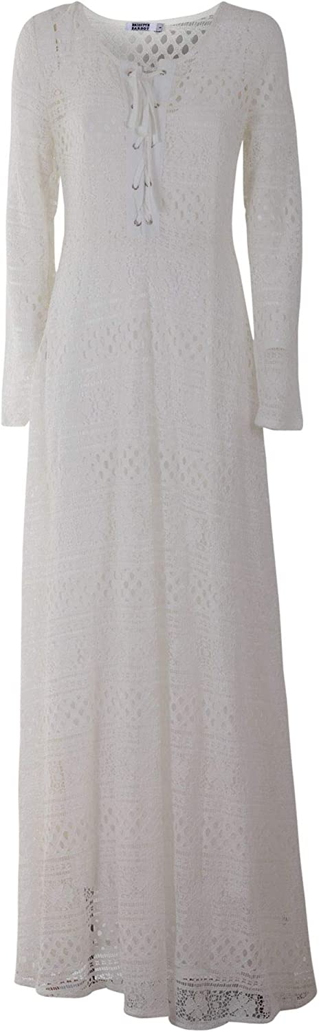 Brigitte Bardot Women's BB50011WH White Polyester Dress