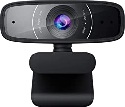 ASUS Webcam C3 1080p HD USB Camera - Beamforming Microphone, Tilt-Adjustable, 360 Degree Rotation, Wide Field of View, Com...