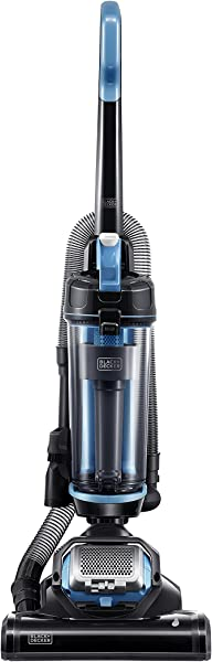 Black Decker 超轻重量 Lite Black Decker BDASL202 空气旋转轻量级强大直立真空吸尘器蓝色