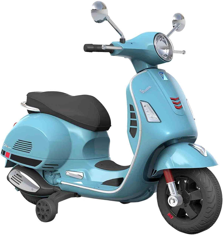 SIP Scootershop Vespa GTS - Patinete eléctrico 12 V, color azul incluye batería y cargador
