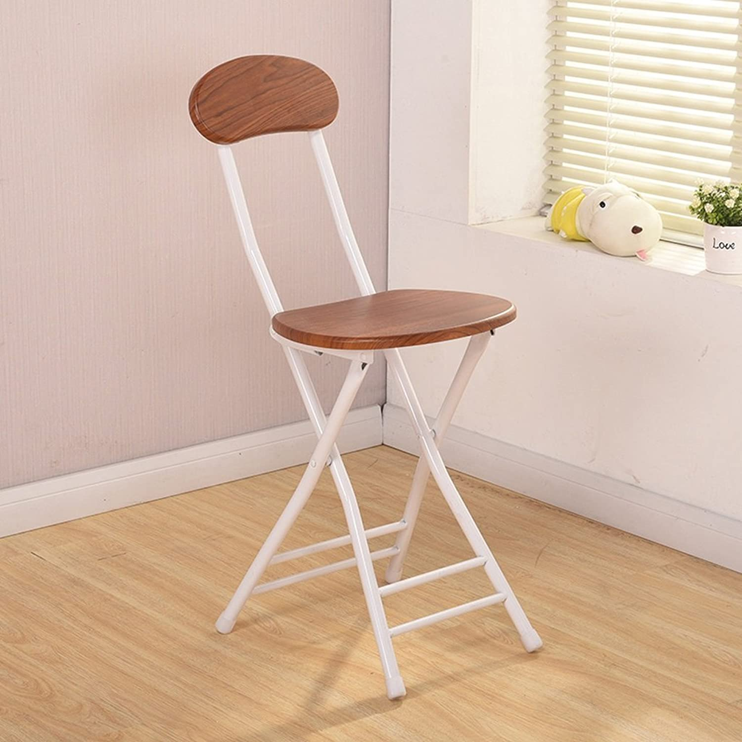 Folding Chair Dining Chair Portable Metal Chair Modern Minimalist Nordic (color   E)