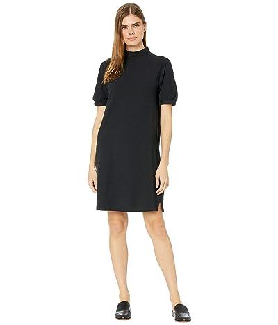 Madewell Texture Thread Mock Neck Mini Dress (True Black) Women