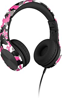 New! LilGadgets Connect+ Pro Premium Volume Limited Wired Headphones with SharePort for Children Pink