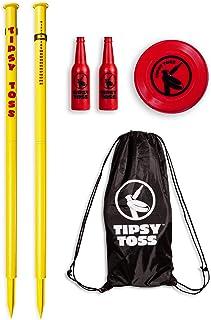 GoSports Tipsy Toss Game Set | Flying Disc Bottle Drop Yard Game