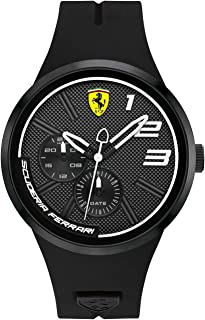 Ferrari Men's Black Dial Color Leather Strap Watch - 830472