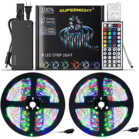 2*5M SMD 3528 RGB 600LEDs Light Strip Multi-Color TV Backlight 44Key Controller