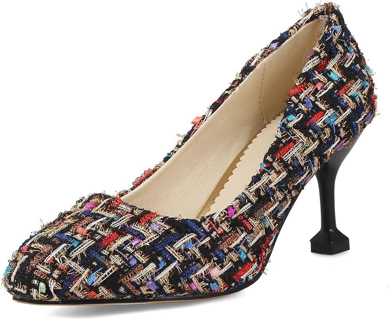 SaraIris Women's Round Toe Chunky High Heels Platform Zipper Rhinestone Elehant Mid Calf Boots