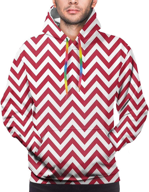 Men's Hoodies Sweatshirts,Classical Spring Yard Florescence Pastel Colored Flourish Pattern
