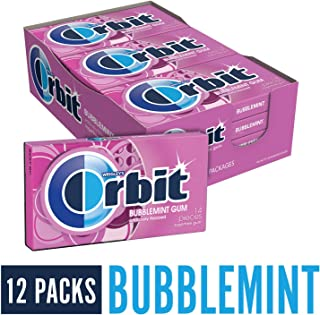 Orbit Bubblemint Sugarfree Gum, 14 pieces, (Pack of 12)