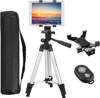 三脚 タブレット iPad PEYOU アルミ製 3WAY雲台 4段 レバー式 汎用性タブレット ホルダー&収納バッグ付き 多機種に対応