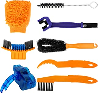Victop Juego de 8 herramientas de limpieza de bicicletas completo cepillo de limpieza de cadena de bicicleta MTB Bicicleta...