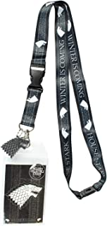 Game of Thrones House Stark Lanyard ID Holder & Charm Badge with Sticker