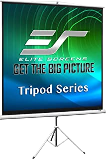 Elite Screens Tripod, 119-inch, Adjustable Multi Aspect Ratio Portable Pull Up Projection Projector Screen, T119NWS1