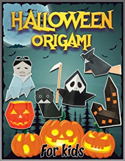 Halloween Origami For Kids: Origami For Halloween | Halloween Crafts For Halloween | Step-By-Step Instructions | A Skeleto...