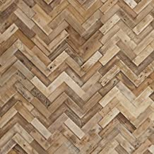 Timberwall - Reclaimed Collection Herringbone - DIY Wood Wall Panels - Solid Salvaged and Upcycled Wood - Nails and Staples Application - 11 Sq Ft
