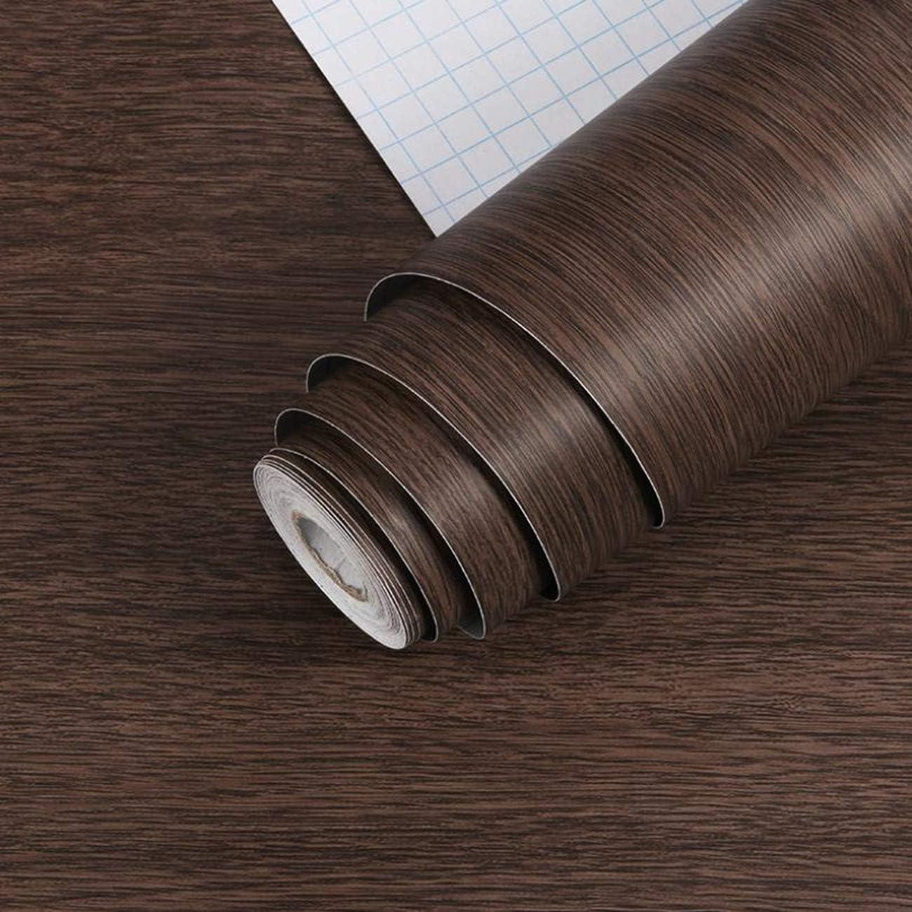 Amazon Benque 壁紙シール 木目調 ブラウン 3d Diy リメイクシート はがせる 45cm 10m ダークブラウン 壁紙