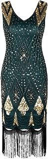 Women 1920s Gatsby Cocktail Sequin Art Deco Flapper Dress