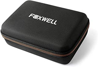 FOXWELL Hard Protection Carrying Case for NT510 Obd2 Code Reader Check Engine Light Scanner and Diagnostic Scan Tool - Polyester Fibre & EVA Travel Case (Black)
