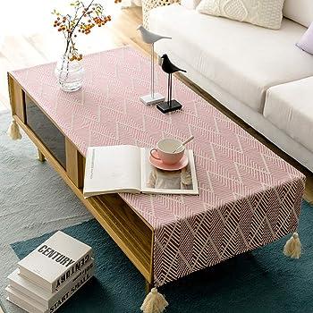 Salon Table Basse Tissu Nappe Rectangulaire Tissu De Lin Moderne Serviette De The Simple Tv Cabinet Tapis Tissu Table Mats Taille 70 150cm Amazon Fr Cuisine Maison